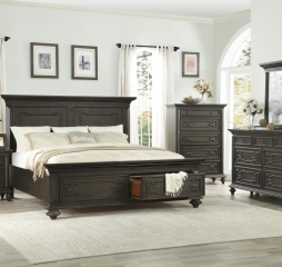 Hillridge Bed w/ Footboard Storage by Homelegance