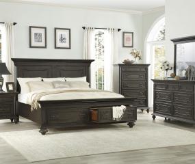 Hillridge Bed w/ Footboard Storage by Homelegance
