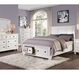 Laurelin Sleigh Platform Bed w/ Footboard Storage by Homelegance