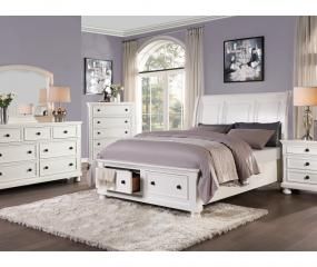 Laurelin Sleigh Platform Bed w/ Footboard Storage by Homelegance