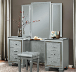 Allura Vanity w/ Mirror by Homelegance