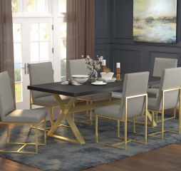 Conway X Trestle Base Dining Table by Coaster