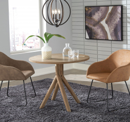 Arcadia Twisted Round Dining Table by Coaster