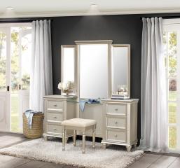 Celandine Vanity Dresser w/ Mirror by Homelegance
