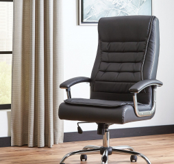 Contemporary Black Faux Leather Office Chair by Coaster