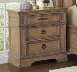 Ilana Three Drawer Nightstand by Coaster
