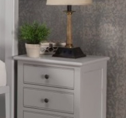 Hepburn Three Drawer Nightstand by North American Wood