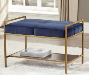 Gold Upholstered Stool by Coaster