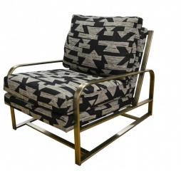 Dakota Metal Accent Chair by Jonathan Louis