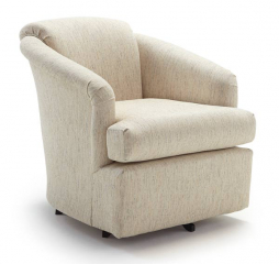 Cass Swivel Barrel Chair by Best Home Furnishings