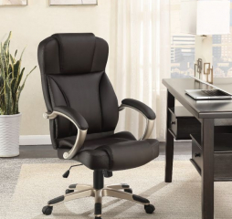 Upholstered Dark Brown and Champagne Office Chair by Coaster