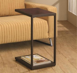 Contemporary Brown Rectangular Accent Table w/ Bottom Shelf by Coaster