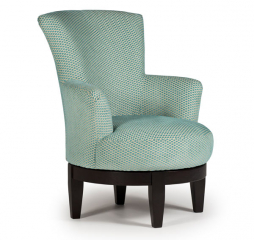 Justine Swivel Barrel Chair by Best Home Furnishings