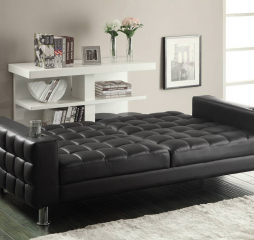 Faux Leather Sofa Bed by Coaster