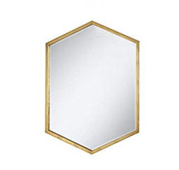 Gold Hexagon Shaped Wall Mirror by Coaster