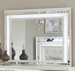 Alonza Mirror w/ LED Lighting by Homelegance