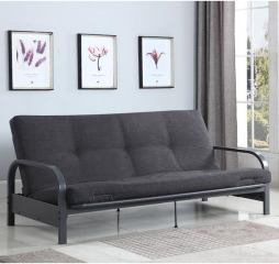 Dark Grey Metal Futon Frame by Coaster