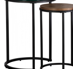 Metal Black Nesting End Table by Jonathan Louis