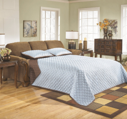 Montgomery Mocha Queen Sofa Sleeper w/ Innerspring Mattress Signature Design by Ashley