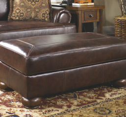 Axiom Walnut Ottoman Signature Design by Ashley