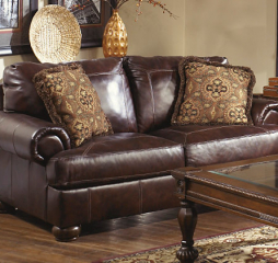Axiom Walnut Loveseat Signature Design by Ashley