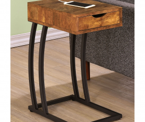 Industrial Accent Table w/ Power Outlet by Coaster