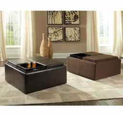 Kaitlyn Storage Cocktail Ottoman by Homelegance