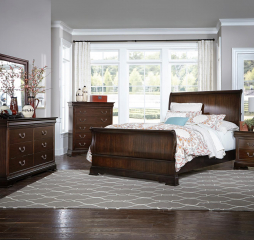Clematis Sleigh Bed by Homelegance