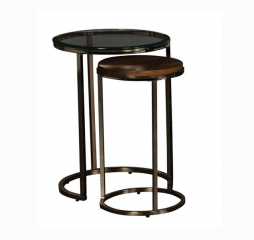 Champagne Brass Nesting Table by Jonathan Louis