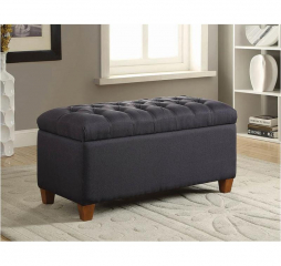 Dark Navy Tufted Storage Bench by Coaster