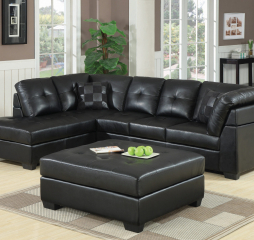 Darie Cushion Back Tufted Sectional by Coaster
