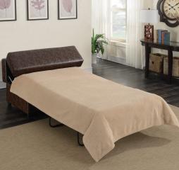 Dark Brown Rectangular Upholstered Sleeper Ottoman by Coaster