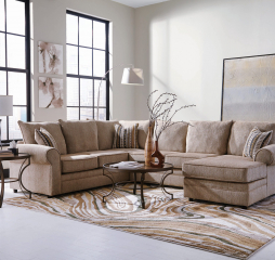 Fairhaven Rolled Arm Sectional by Coaster