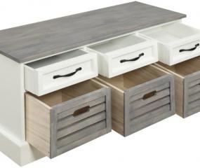 Three Drawer Storage Bench by Coaster