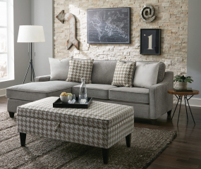 McLoughlin Upholstered Sectional by Coaster