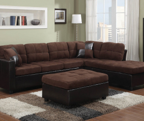 Mallory Tufted Upholstered Sectional by Coaster