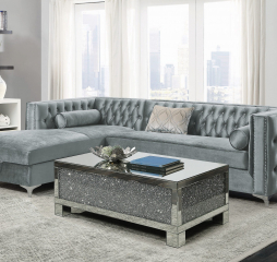Bellaire Button-Tufted Upholstered Sectional by Coaster