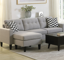 Metro Tufted Upholstered Reversible Sectional by Coaster