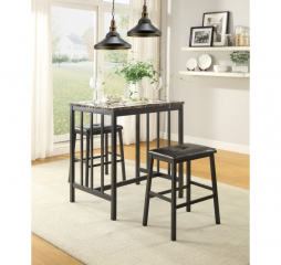 Edgar Three Piece Pack Counter Height Set by Homelegance