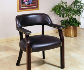 Traditional Upholstered Leatherette Home Office Chair by Coaster