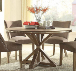 Beaugrand Round Dining Table by Homelegance