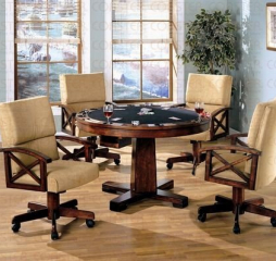Marietta Casual Tobacco Finished Game Table by Coaster