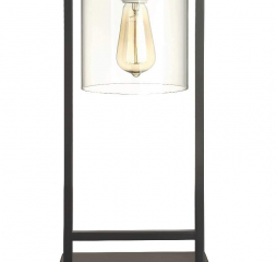Transitional Black Glass Shade Table Lamp by Coaster