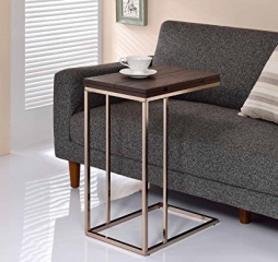Contemporary Chestnut and Chocolate Chrome Expandable Top Snack Accent Table by Coaster