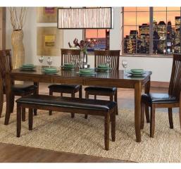Alita 60″ Dining Table w/ 18″ Leaf by Homelegance