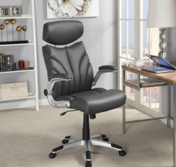 Contemporary Gray and Silver Office Chair by Coaster