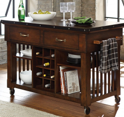 Schleiger Kitchen Cart w/ Casters by Homelegance