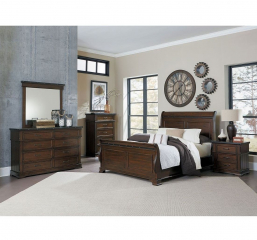 Schleiger Sleigh Bed by Homelegance