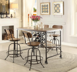 Angstrom Counter Height Table w/ Wine Rack by Homelegance
