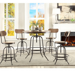 Angstrom Counter Height Table w/ Adjustable Height by Homelegance